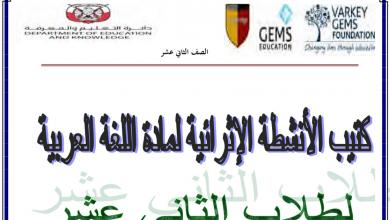 Photo of ملزمة لغة عربية الفصل الأول للصف الثاني عشر