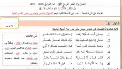 Photo of امتحان نهاية الفصل الأول 2017 لغة عربية صف ثاني عشر عام ومتقدم