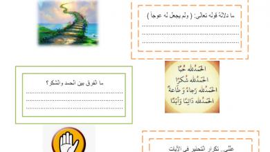 Photo of أوراق عمل تربية إسلامية فصل أول صف عاشر
