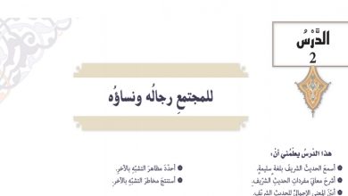 Photo of حل درس للمجتمع رجاله ونساؤه تربية إسلامية صف تاسع فصل ثاني