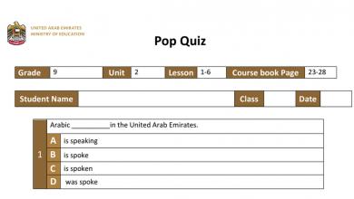 Photo of بوبو كويز الوحدة الثانية الدروس من 1-6 لغة إنجليزية فصل أول صف تاسع