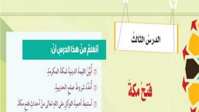 Photo of حل درس فتح مكة تربية إسلامية فصل أول صف ثامن