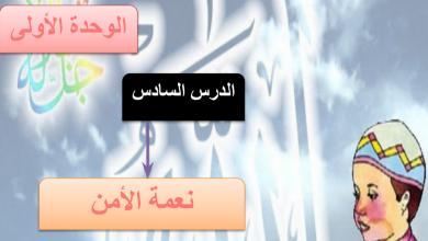 Photo of حل درس نعمة الأمن تربية إسلامية فصل أول صف ثامن