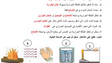 Photo of مراجعة درس طرق انتقال الطاقة الحرارية مع الإجابات علوم صف ثامن