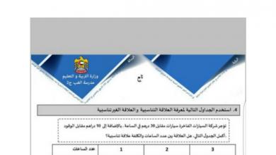 Photo of مراجعة رياضيات فصل أول صف سابع