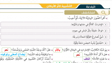 Photo of حل درس التشبيه والفعل الصحيح لغة عربية صف سابع