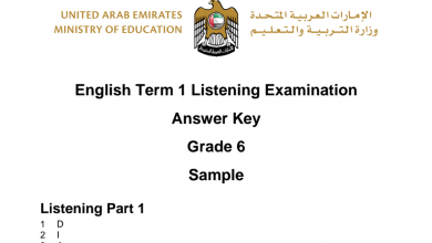 Photo of نموذج امتحان استماع لغة إنجليزية فصل أول صف سادس