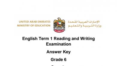 Photo of نموذج امتحان قراءة وكتابة لغة إنجليزية فصل أول صف سادس