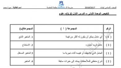 Photo of تلخيص الوحدة الأولى علوم فصل أول صف سادس