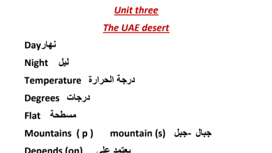 Photo of مفردات الوحدة الثالثة لغة إنجليزية فصل أول صف رابع