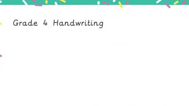 Photo of أوراق تدريب لتحسين الخط باللغة الإنجليزية للصف الرابع