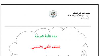 Photo of تدريبات لغة عربية فصل أول صف ثاني