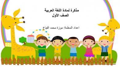 Photo of مذكرة لمراجعة حروف اللغة العربية فصل أول صف أول