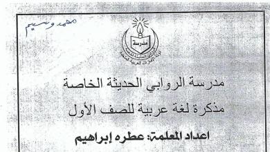 Photo of مذكرة لغة عربية حول (السكون) الفصل الأول صف أول