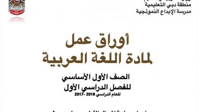 Photo of أوراق عمل حروف وحركات لغة عربية فصل أول صف أول