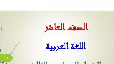 Photo of دليل المعلم لغة عربية الصف العاشر الفصل الثالث كامل