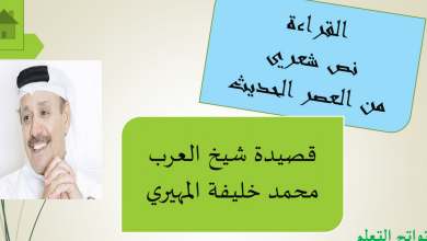 Photo of حل درس قصيدة شيخ العرب لغة عربية الصف العاشر