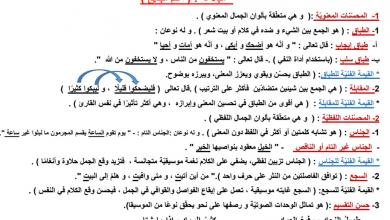 Photo of تلخيص البلاغة للصف الثاني عشر
