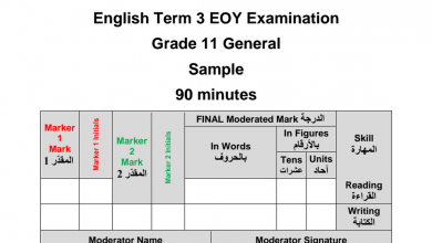 Photo of نموذج امتحان انجليزي صف حادي عشر عام مع الإجابات