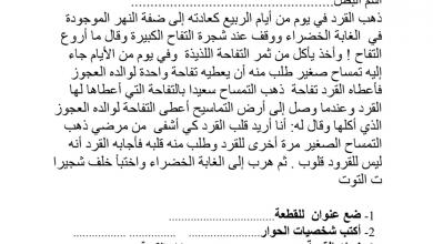 Photo of أوراق عمل (تدريبات) في اللغة العربية للصف الثاني