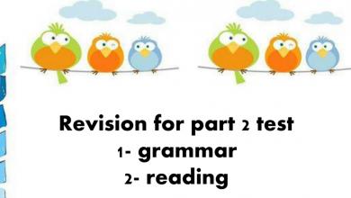 Photo of مراجعة قواعد اللغة الانجليزية فصل ثالث صف ثالث