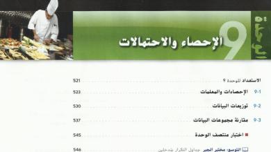 Photo of دليل معلم رياضيات الوحدة 9 الإحصاء والاحتمالات صف تاسع