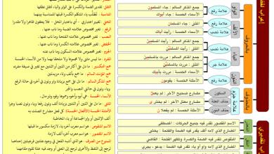 Photo of تلخيص نحو لغة عربية صف ثاني عشر
