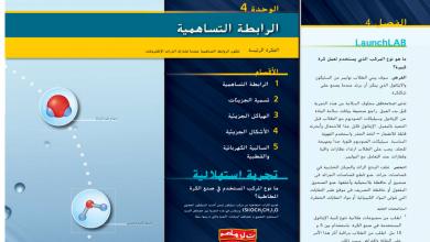 Photo of دليل المعلم كيمياء الوحدة الرابعة الرابطة التساهمية الصف العاشر متقدم .