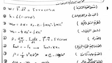 Photo of قوانين فيزياء صف ثاني عشر متقدم