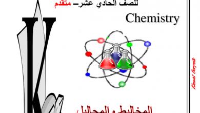Photo of اسئلة مراجعة كيمياء محلولة المخاليط والمحاليل الفصل الثاني مدرسة الصفا دبي