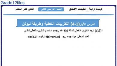 Photo of ورقة عمل تطبيقات الإشتقاق الوحدة 4 رياضيات للصف الثاني عشر متقدم