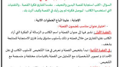 Photo of شرح طريقة كتابة استجابة أدبية اللغة العربية الصف الخامس الفصل الثالث