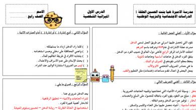 Photo of مراجعة عامة دراسات اجتماعية للصف الرابع مع الإجابات