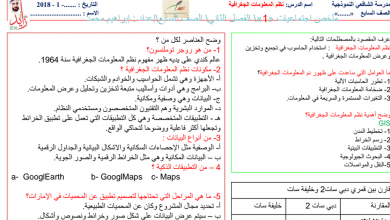 Photo of ملخص (الفصل الثاني) دراسات اجتماعية للصف السابع