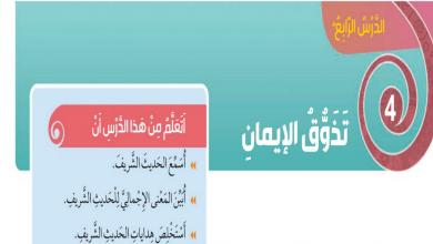 Photo of حلول درس تذوق الإيمان تربية اسلامية للصف الثالث الفصل الثالث