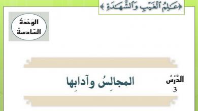 Photo of درس المجالس وآدابها مع الأجوبة التربية الاسلامية الصف السابع الفصل الثالث