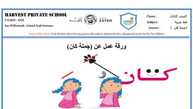 Photo of ورقة عمل درس جملة كان مع الإجابات اللغة العربية للصف الثالث