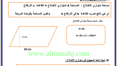 Photo of مراجعة شاملة ومميزة للوحدة 9 رياضيات الصف السادس الفصل الثالث