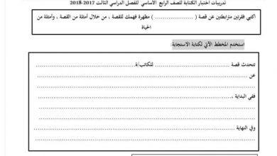 Photo of امتحان الكتابة لغة عربية الفصل الثالث مراجعات ونماذج