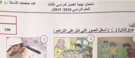 امتحان وزاري تربية اسلامية الصف الثالث الفصل الثالث 2018-2019