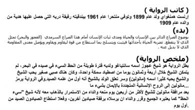 Photo of تلخيص وتحليل رواية الشيخ والبحر لغة عربية صف عاشر فصل ثالث