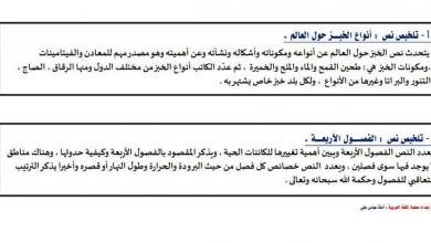 Photo of ورقة عمل في مهارة الكتابة لغة عربية صف ثالث