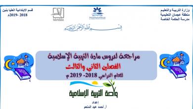 Photo of مراجعة تربية إسلامية فصل ثاني وثالث صف رابع