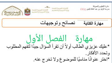 Photo of ملف في مهارات الكتابة للفصول الثلاثة لغة عربية صف ثالث