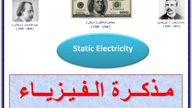 Photo of أسئلة وتدريبات في الكهرباء الساكنة فيزياء صف ثاني عشر متقدم فصل أول