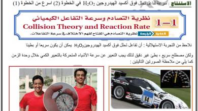 Photo of ملخص سرعة التفاعلات الكيميائية كيمياء صف عاشر متقدم فصل ثالث