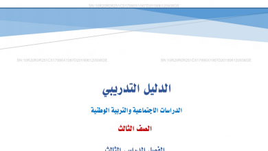 Photo of الدليل التدريبي دراسات اجتماعية صف ثالث فصل ثالث