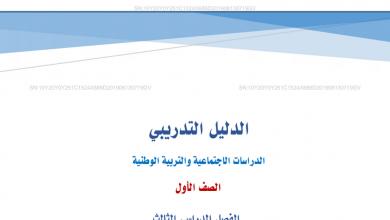 Photo of الدليل التدريبي دراسات اجتماعية صف أول فصل ثالث