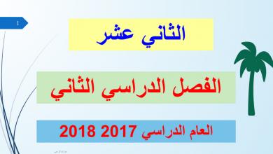 Photo of حلول الكتاب لغة عربية صف ثاني عشر فصل ثاني