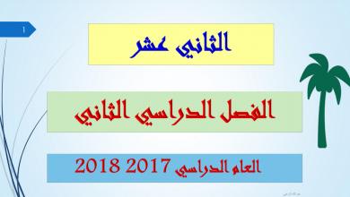 Photo of حلول دروس الفصل الثاني لغة عربية صف ثاني عشر